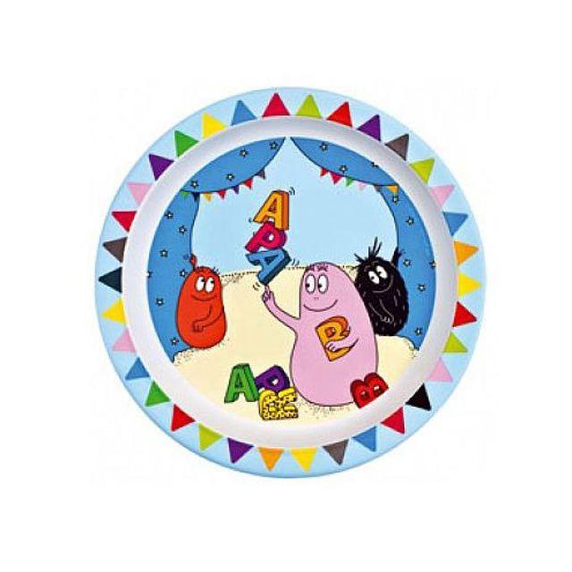 Petit Joueur Assiette enfant en mélamine Barbapapa Cirque