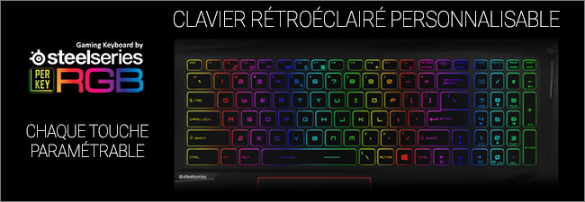 MSI GE75 - Clavier gaming rétroéclairé RGB