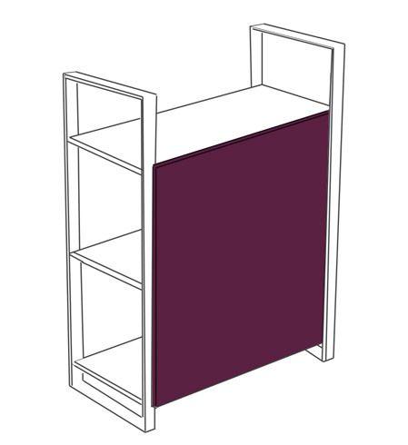 Fond mélaminé H 76 cm pour élément Suivant Arnage Color