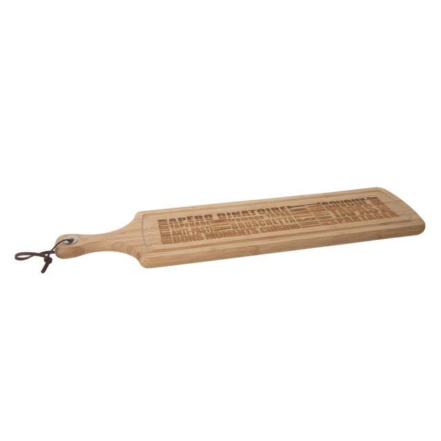 Secret De Gourmet Planche à découper en Bambou Words - 59 cm - Longue