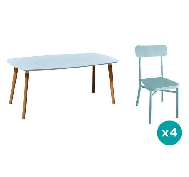 RESIDENCE - Salon de jardin DANANG / MICA - Couleur chaises - Bleu ...