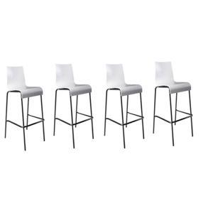 neg 39 import lot de 4 tabourets de bar forest bois blanc pas cher achat vente tabourets. Black Bedroom Furniture Sets. Home Design Ideas