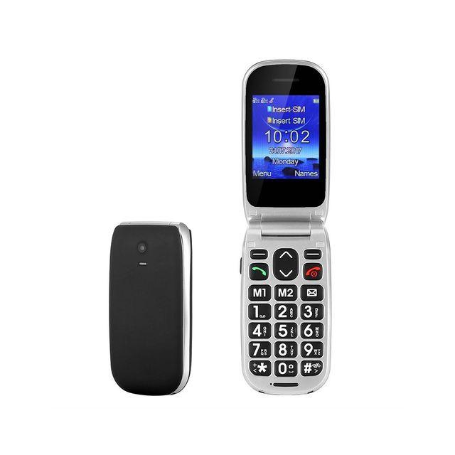 Auto-hightech Téléphone Senior grande touches bouton Sos, appels, messages, radio Fm, alarme, écran Lcd 2.2 pouces