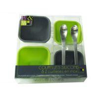 MAISON FUTEE - 4 coupelles en silicone et 2 cuillères en inox