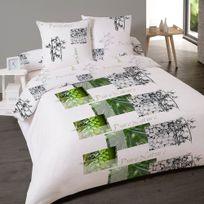 Dourev - Housse de couette 220x240cm Esprit Pure Nature pour lit deux personnes