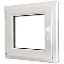 Rocambolesk - Superbe Fenêtre oscillo-battant en Pvc Poignée sur la droite 600 x 600 mm Neuf