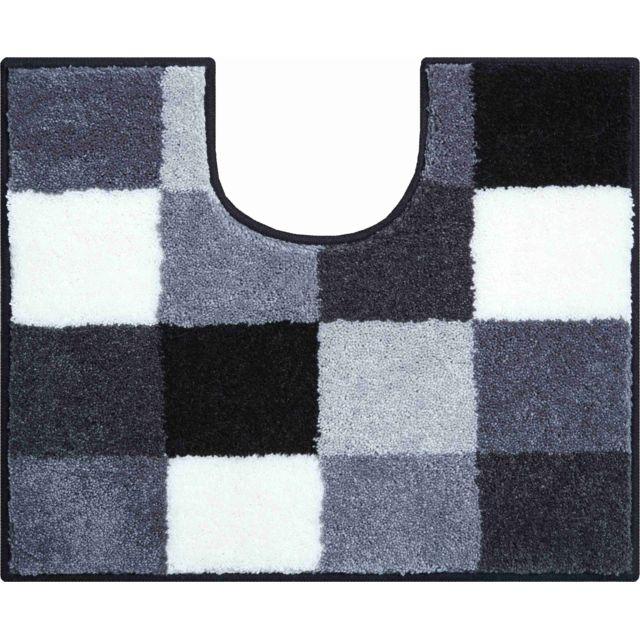 esh equipement tapis de salle de bain bona gris contour wc 50 x 60 cm 50cm x 60cm pas cher. Black Bedroom Furniture Sets. Home Design Ideas