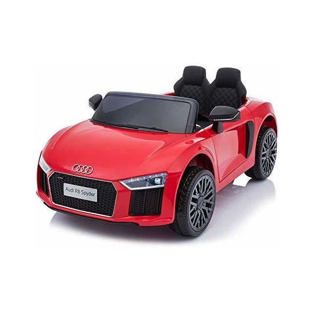 Beneo Voiture électrique Audi R8 Small, rouge, sous licence d'orig