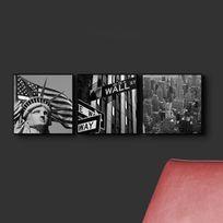 Graham & Brown - Cadre décoratif en bois contemporain 20x20cm - Lot de 3 assortis City