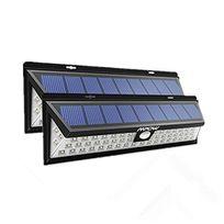 Alpexe - 2 Pack 54 Led, Lampe solaire extérieure étanche Ip65 1188 lumens Luminaire exterieur/ Spot exterieur 120 ° Grand Angle reglable avec détecteur de mouvement et Paneau Solaire pour Pati, jardin, cour, chemin,escaliers, clôture