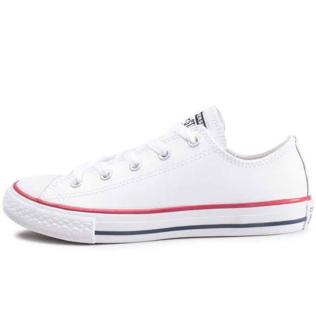 c2551abd09552 Converse - Chuck Taylor All Star Leather Ox Blanche Enfant - pas ...