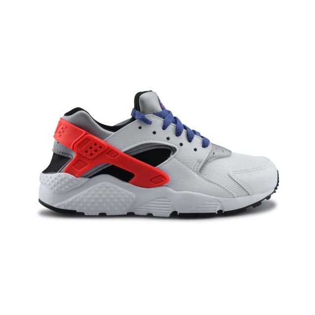 67145c18e32f3 Nike - Huarache Run Junior Blanc - pas cher Achat   Vente Baskets enfant -  RueDuCommerce