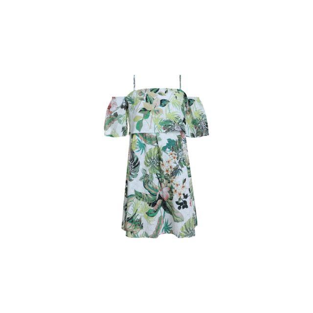 5e52011e4686d Guess - Guess Robe Mini Me fleur de lis Blanc J82K60 - Taille - 16 ans