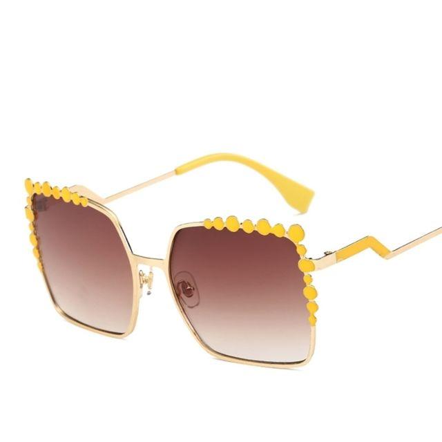8762c7f7d81338 Wewoo - Lunettes de soleil Femmes Carrés Couleur Lunettes Uv400 Protection  Lunettes de Ach-700233