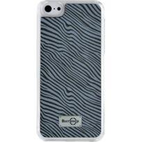Blueway - Coque rigide effet zébré noir et blanc pour iPhone 5C