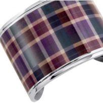 Xc38 - Bracelet Xc 38 En Acier Avec Violet Dominant Pour Femme