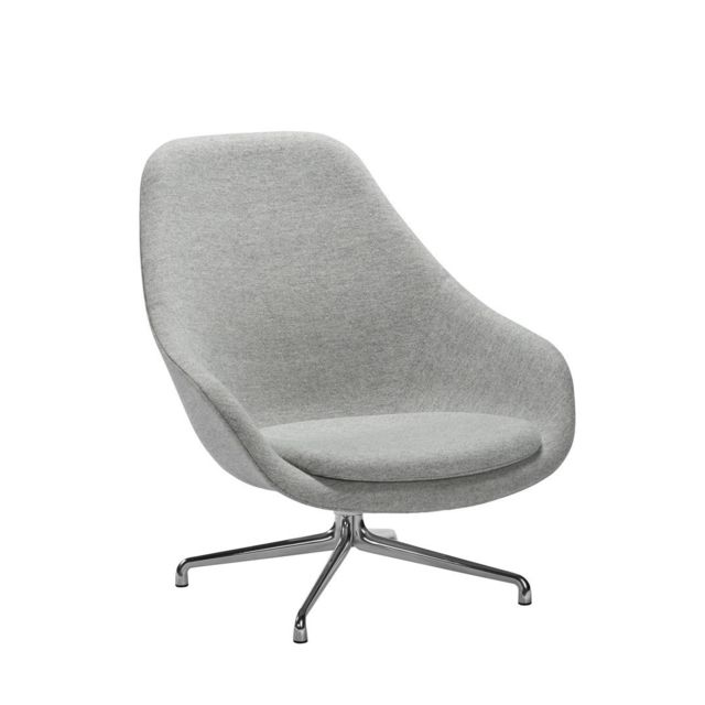 Hay About A Lounge Chair High Aal 91 - Remix 113 - beige - aluminium poli