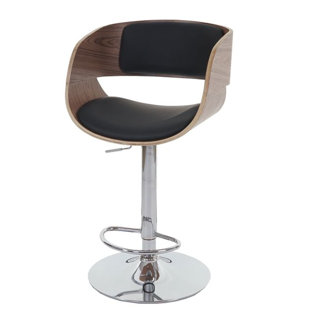 Mendler Tabouret De Bar Chaise Bray Style Retro Bois