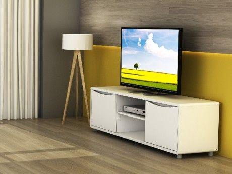 marque generique meuble tv sorriso blanc 2 portes 2 niches pas cher achat vente. Black Bedroom Furniture Sets. Home Design Ideas
