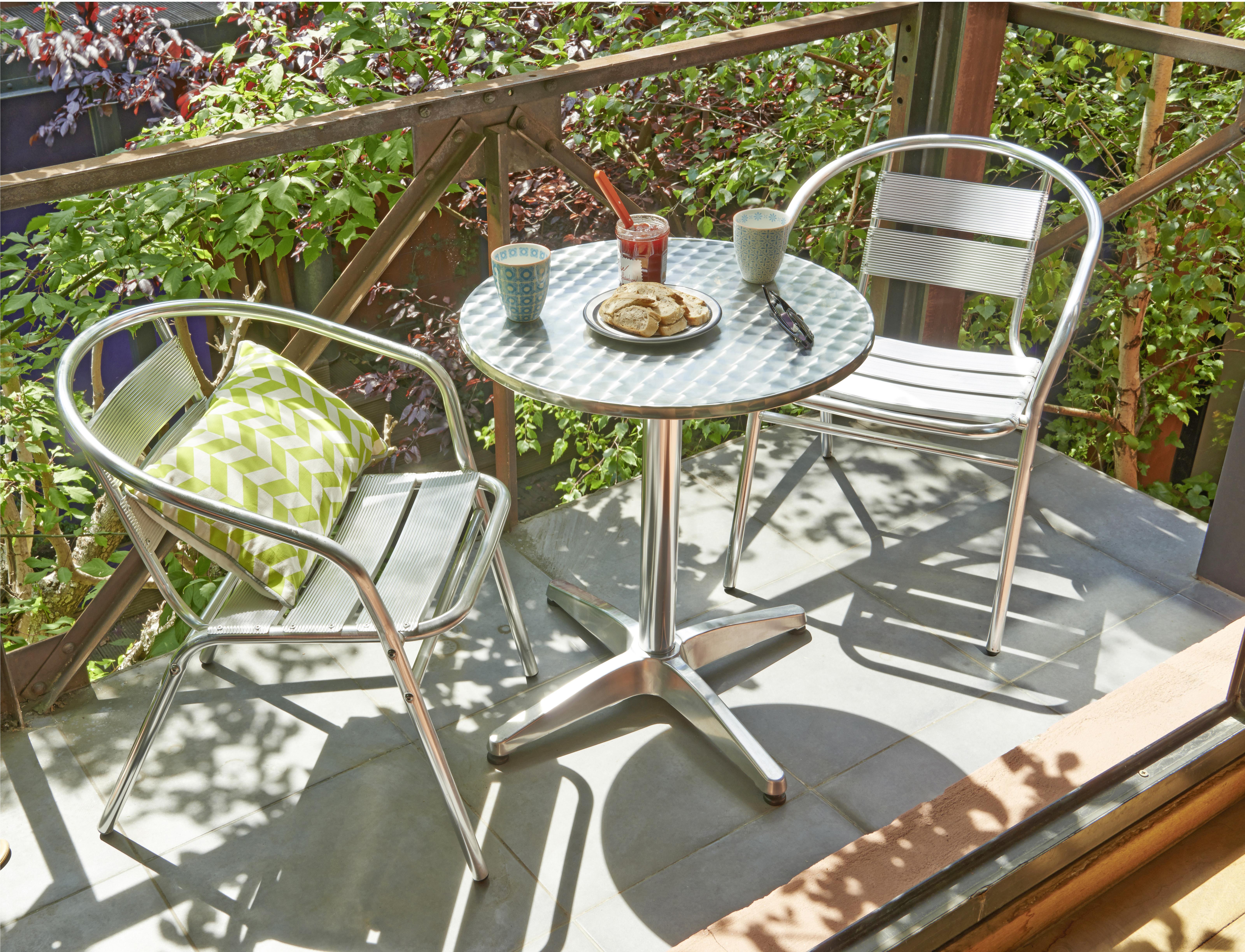 Fauteuil de jardin empilable - aluminium
