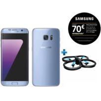 Samsung - Galaxy S7 Edge bleu + Drone Parrot AR Drone 2.0 Power Edition Bleu