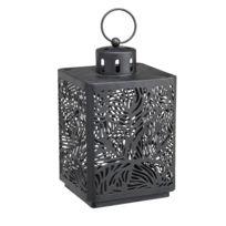 RUE DU COMMERCE - Lanterne feuilles - Noir