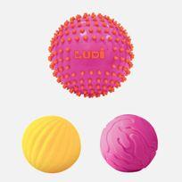 Ludi - Lot de 3 Balles Sensorielles Roses