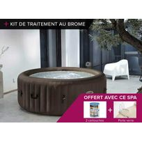 Intex - Spa gonflable PureSpa rond à jets 4 pl + Kit Brome