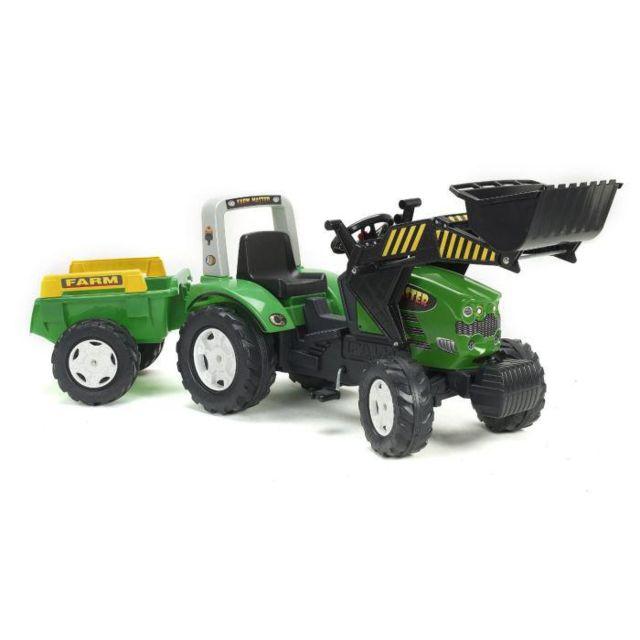 568a5af08d74ca Falk - Tracteur a pédales vert Farm Master avec remorque - pas cher Achat    Vente Véhicule à pédales - RueDuCommerce