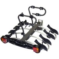 Porte-vélo plateforme, basculable sur attelage Premium 4 vélos A018P4RA, fixation sur boule d'attelage