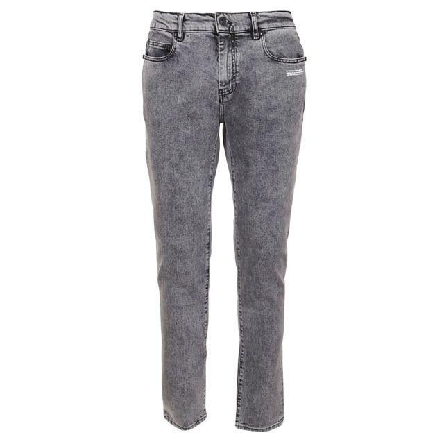 OFF-WHITE Homme Omya058R20G940270801 Gris Coton Jeans