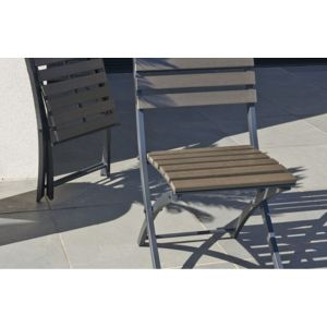 DCB GARDEN - Chaise pliante anthracite - pas cher Achat / Vente ...