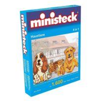 Ministeck - 31326 - Mosaïque Puzzle - Chiens Chats - 1600 Pièces