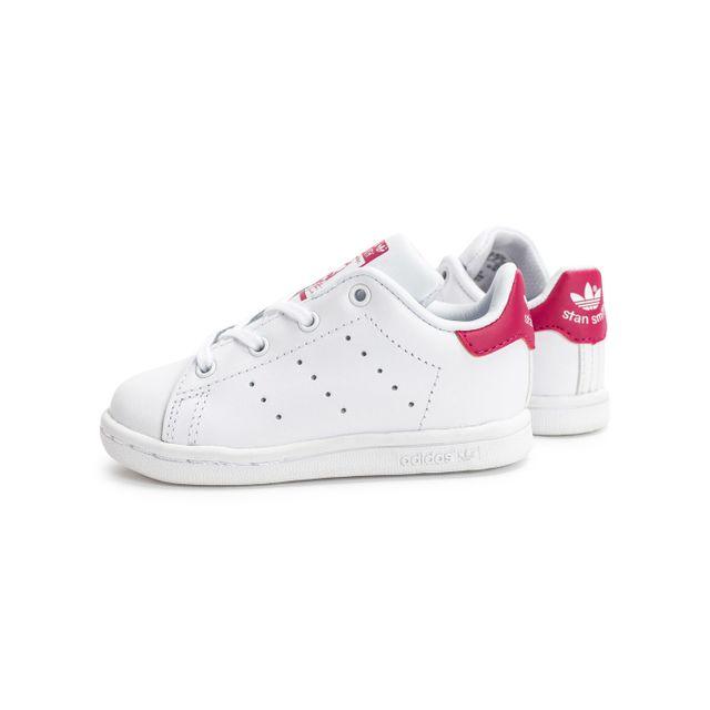 Adidas Stan Smith Bébé Blanche Et Rose pas cher Achat