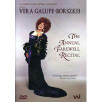 Vai - Vera Galupe-borszkh: The Annual Farewell Recital - Dvd - Edition simple