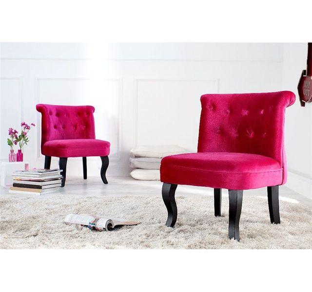 CHLOE DESIGN Fauteuil design LEXI - Rose