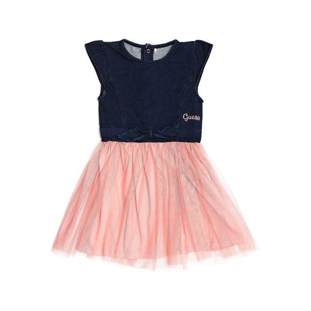 2263f4ce5bba1 Guess - Robe en tulle Fille Bleu - Taille - 4 ans - pas cher Achat   Vente  Robe enfant - RueDuCommerce