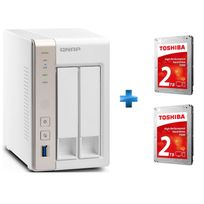 QNAP - TS-251 + TOSHIBA P300 High-Performance Hard Drive 2TB bulk x2