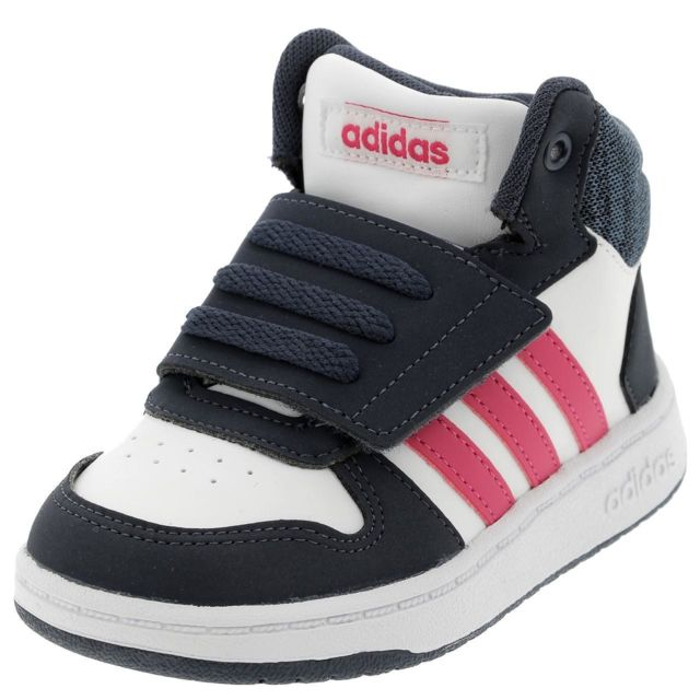 new style ac83f 45341 Adidas - Chaussures scratch Hoops mid blc rse bb Blanc 35255 - pas cher  Achat  Vente Baskets enfant - RueDuCommerce