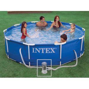 intex piscine tubulaire metal frame ronde 3 05 x 0 76 m pas cher achat vente piscine. Black Bedroom Furniture Sets. Home Design Ideas