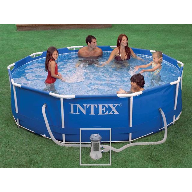 Charmant INTEX   Piscine Tubulaire Metal Frame Ronde 3,05 X 0,76 M