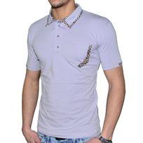 Stef Wear - Polo Manches Courtes - Homme - 705 Leopard - Gris
