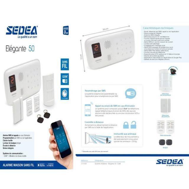 Elegante - Sedea Pack Alarme maison sans fil 50