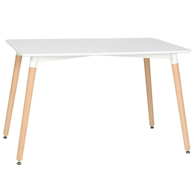 Altobuy Carine - Table Blanche Rectangulaire