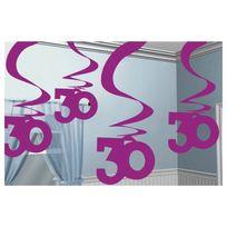 Amscan - Guirlandes anniversaire 30 ans roses x5