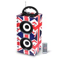Ltc - Mini enceinte colonne autonome Usb/SD/AUX/BLUETOOTH/FM 12W style Uk - Freesound-uk