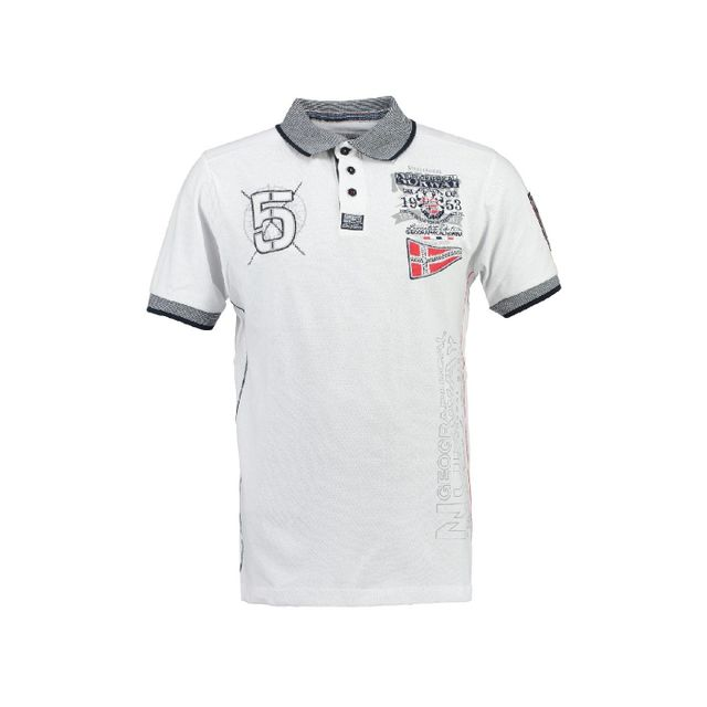 1a90d8f0c1fc3 Geographical Norway - Polo Enfant Kantibe Blanc - pas cher Achat   Vente Polo  enfant - RueDuCommerce