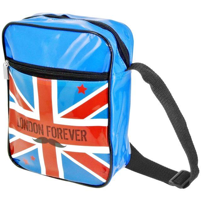 132b8c6062 Promobo - Sacoche Besace Imprimé London Forever Drapeau Royaume Uni ...