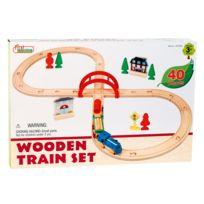 First learning - Circuit Train En Bois Forme 8