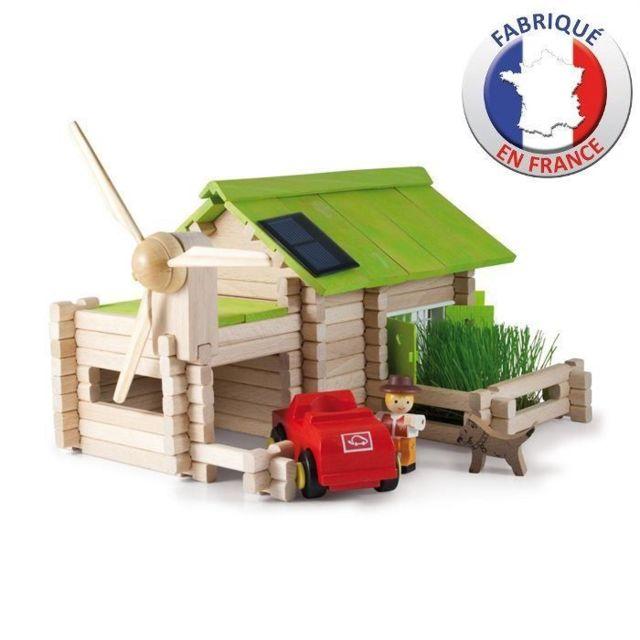 JEU D'ASSEMBLAGE - JEU DE CONSTRUCTION - JEU DE MANIPULATION - Le Chalet Ecologique en bois